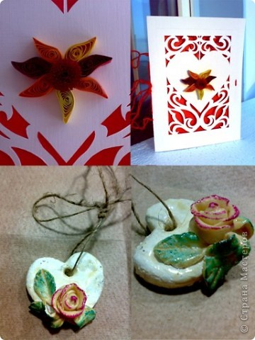 соленая валентинка и открыточка бумажная. фото 1