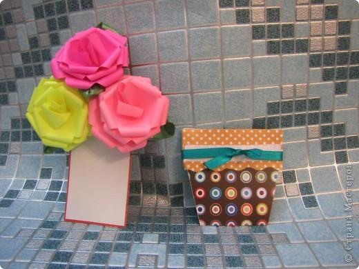 необычная открытка - горшочек с цветами фото 2