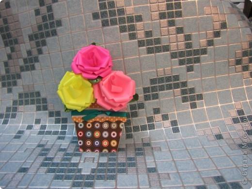 необычная открытка - горшочек с цветами фото 1