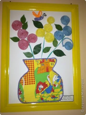 Подготовительная группа аппликация ваза с цветами 111