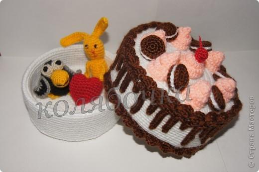 """Замечательный тортик """"испекла"""",красивый,вкусный,функциональный. фото 4"""