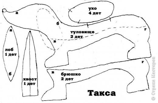 Игрушка Шитьё игрушка такса