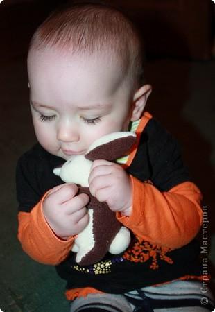 """Сшила дочке на 4 месяца. Такой миленький, маленький.  А то дедушка нас застращал """"не давайте ей мягкие игрушки, Китай, вредно..."""" фото 2"""