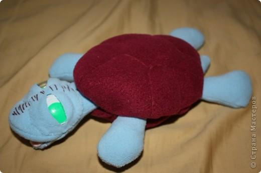 Знакомая попросила для дочки сшить черепашку. Вот такая получилась. Как раз размером с их живую черепаху.  фото 1
