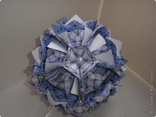 Кусудама Lotus crown. Автор Мария Синайская. фото 3