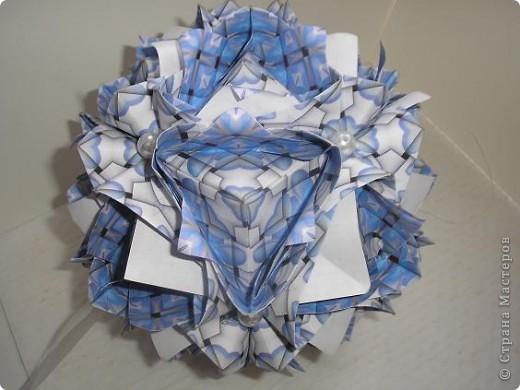 Кусудама Lotus crown. Автор Мария Синайская. фото 2