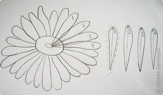 Делая ромашки для подарка к 8 марта решила показать вам поэтапно как делаются самые простые цветы из соломки с приданием полуобъема. МК для начинающих, кто еще не умеет работать с соломкой, поэтому все подробно.  фото 4