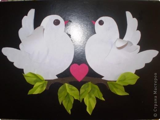 """этих замечательных голубей я скопировала у Emily2000, мы с детишками средней группы потрудились чтоб порадовать близких на """"ДЕНЬ СВЯТОГО ВАЛЕНТИНА"""". Спасибо за идею."""