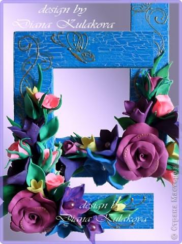 Фон выполнен акриловыми красками+лак кракелюрный, лепка - из массы для лепки фото 7