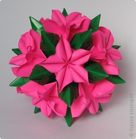 Curler by Herman Van Goubergen Схема и видео: http://origamis.ru/topics/kusudama-curler  фото 2