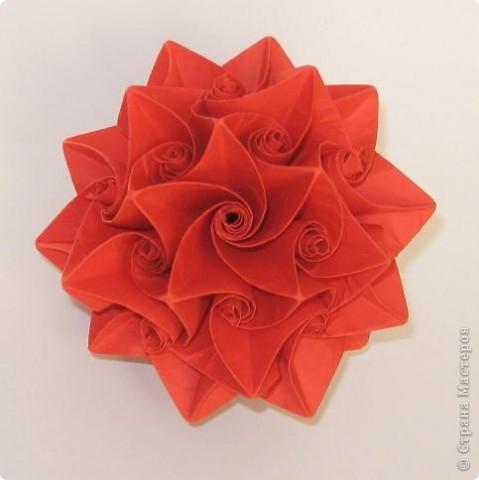 Curler by Herman Van Goubergen Схема и видео: http://origamis.ru/topics/kusudama-curler  фото 1