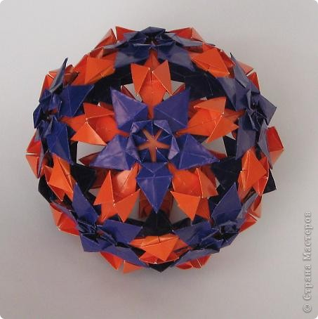 Curler by Herman Van Goubergen Схема и видео: http://origamis.ru/topics/kusudama-curler  фото 3