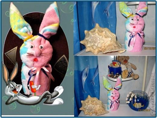 ... но и отличный подарок к Новому году или украшение для дома, если эти кролики, например, из махрового полотенца ;)))