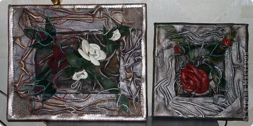 и еще одно панно с розами фото 2