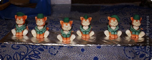 Вот таких бравых котят-солдат я сделала на днях))).  фото 11