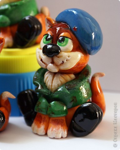 Вот таких бравых котят-солдат я сделала на днях))).  фото 3