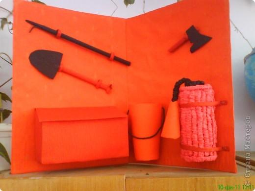 Такой пожарный щит мы сделали на конкурс по пожарной безопасности фото 1