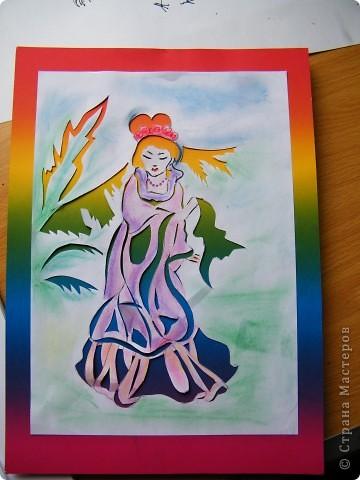 Цветной картон +  бумага, затонированная пастелью фото 1