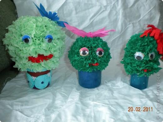 Вот такая семья кактусов!