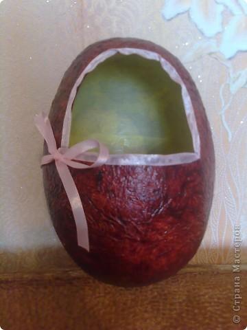 Яйцо из папье-маше, высостой примерно 18 см. фото 1
