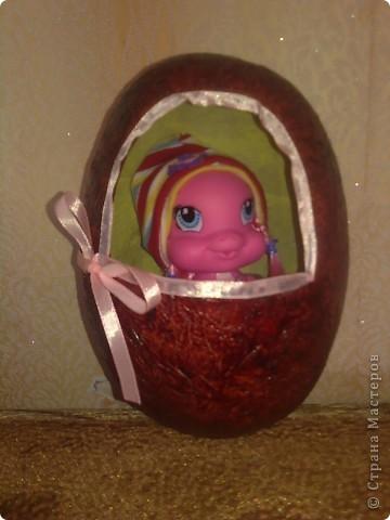 Яйцо из папье-маше, высостой примерно 18 см. фото 3