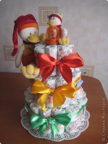 Веселенький тортик для моей новорожденной племянницы
