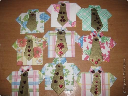 Вот какие нарядные рубашечки мы сегодня мастерили с девочками для наших мальчиков. фото 4