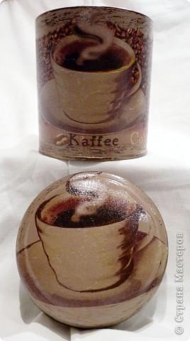 Баночка для маминого кофе)) мама осталась очень довольна) фото 2