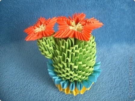 Ко дню мам Лиза со своей учительницей Мариной Геннадьевной сделали кактус.  фото 1