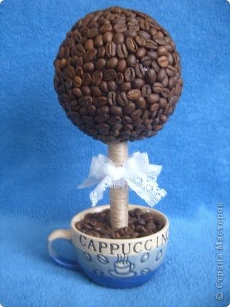 По МК Олисандры http://sashin-mir.blogspot.com/2011/01/blog-post_21.html сделали с Лизой кофейное дерево. фото 1