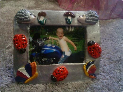 С сынишкой делали первый раз рамочки)))))))) фото 1