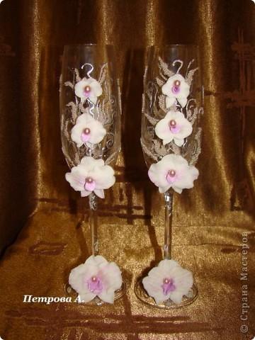 """Бокалы """"Орхидеи"""""""