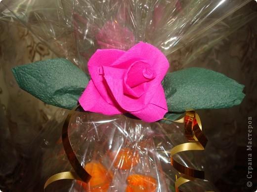 Подарок состоит из тортика (оригами) и конверта для денег. фото 5