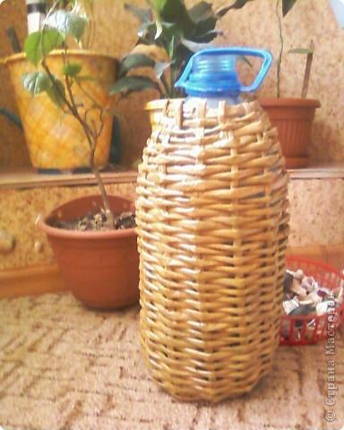 Мои первые работы по плетению корзинок. фото 3