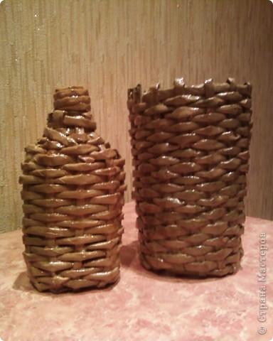 Мои первые работы по плетению корзинок. фото 4
