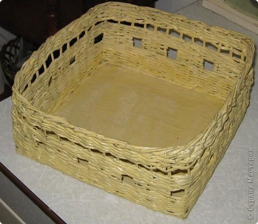 Корзинка-плетенка для хлебобулочных изделий. Вид сверху. фото 1