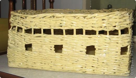 Корзинка-плетенка для хлебобулочных изделий. Вид сверху. фото 2