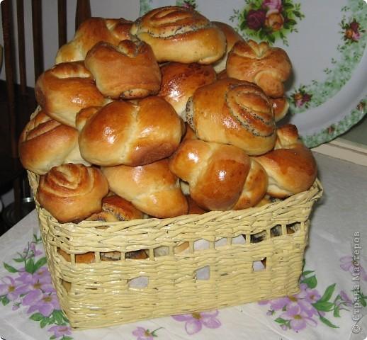 Корзинка-плетенка для хлебобулочных изделий. Вид сверху. фото 3
