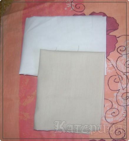 Решила выложить МК по окрашиванию ткани (рецепт раствора) для Тильдочек, может кому то пригодится из начинающих мастериц, так же как и мне. Сложно найти материал нужного цвета для Тильдочек. На фото представлен конечный результат в сравнении с неокрашеной белой бязью. фото 1