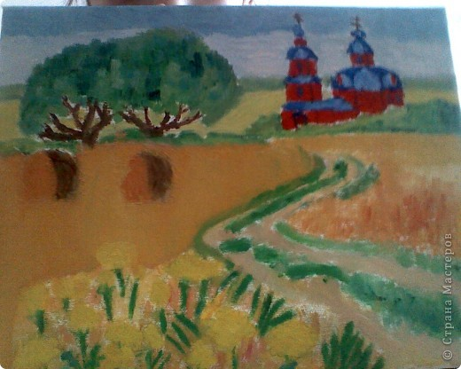 Вот мой холст! Этот холст я придумала.У меня было вдохновение и рисовала и рисовала!