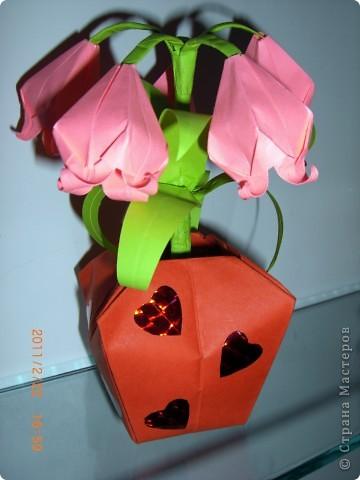 "Вот такие колокольчики сотворила я на ""Оригами""...:))) фото 1"