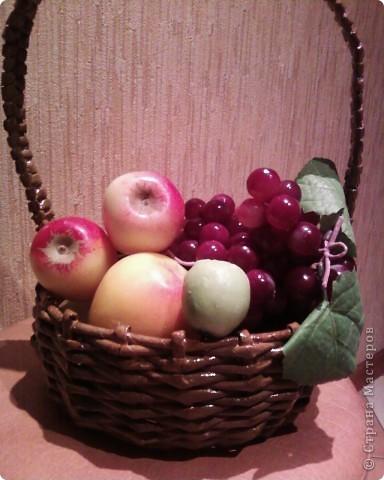 Мои первые работы по плетению корзинок. фото 12