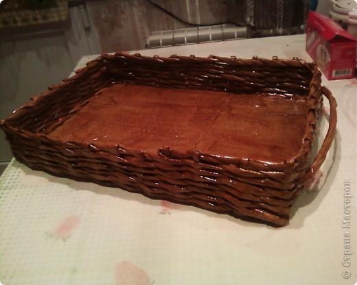 Мои первые работы по плетению корзинок. фото 14