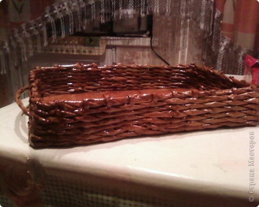 Мои первые работы по плетению корзинок. фото 13