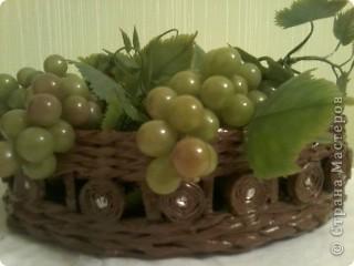 Вот такая получилась ваза для фруктов или для хлеба. фото 1