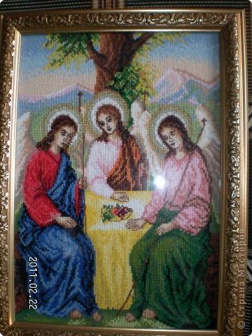Мои работы.Образ Святой Троицы.