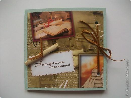 Мини-альбомчики для мужчин в подарок на 23 февраля. Уже подарила.  фото 4