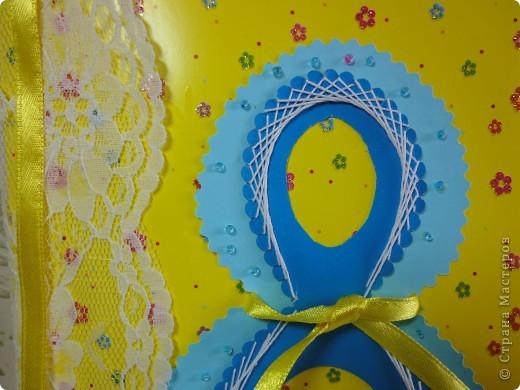 Открытки делали с детьми к 8 Марта. Это будет открытка для дочкиной учительницы.  фото 5