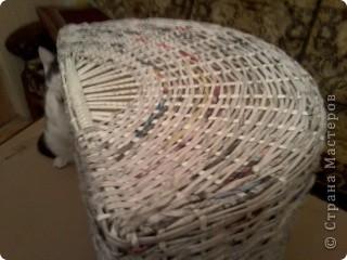 Вот такая получилась корзина в ванную комнату. фото 11