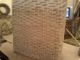 Вот такая получилась корзина в ванную комнату. фото 12